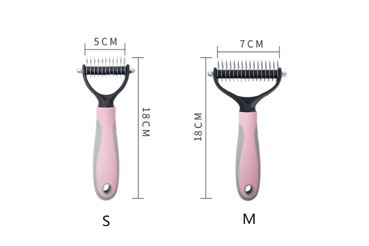 Pet Comb Stainless Steel Knot Nail Rake Comb Dog Comb  S