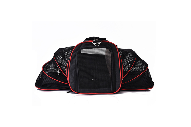 Pet bag Portable portable cat house foldable Backpack  BLACK