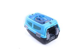 Airline Pet Box Outdoor Portable Pet Shipping Box  BLUE BLACK