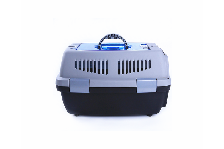 Airline Pet Box Outdoor Portable Pet Shipping Box  GREY BLACK