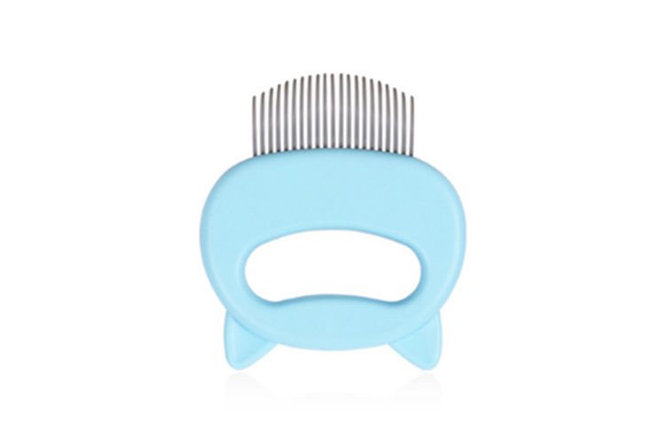 Special Comb for Pet Cat Shell Comb To Remove Floating Hair and Hair Comb  BLUE