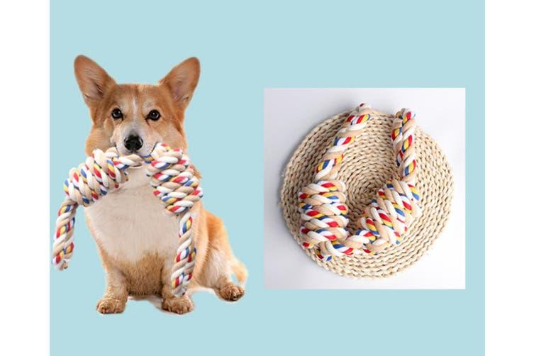 Dog Bite Rope Toy Dog Molars Bite Color Knot Toy 550g