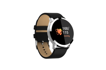 Q8 Smart Watch for Monitoring Heart Rate and Blood Pressure  BLACK SILVER