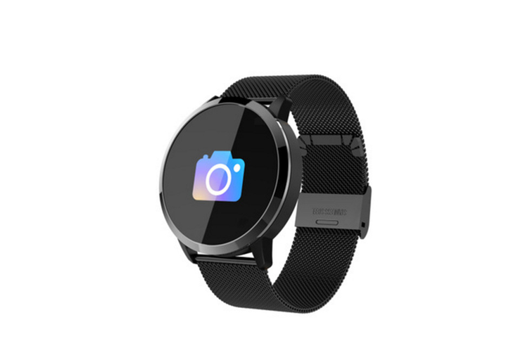 Q8 Smart Watch for Monitoring Heart Rate and Blood Pressure  BLACK Steel