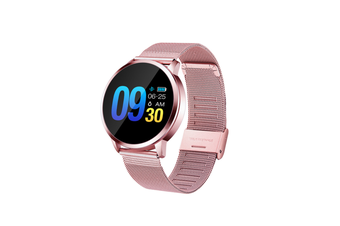 Q8 Smart Watch for Monitoring Heart Rate and Blood Pressure  PINK Steel