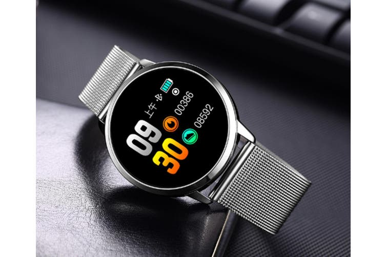 Q8 Smart Watch for Monitoring Heart Rate and Blood Pressure  SILVER Steel