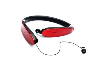 Wireless Sports Bluetooth Headset Neck RED