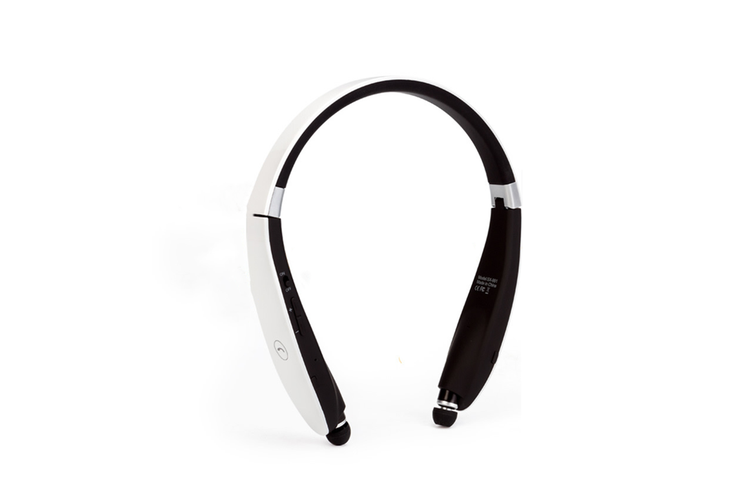 Wireless Sports Bluetooth Headset Neck WHITE