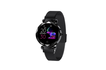 Women's Intelligent Watch Heart Rate and Blood Pressure Monitoring Sports Watch  BLACK