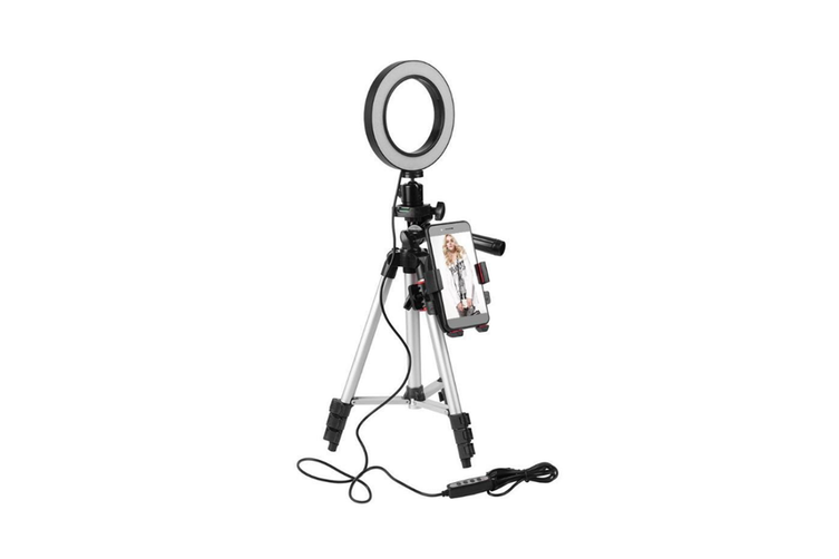 5.7 inch adjustable LED ring lamp tripod mobile phone bracket CT0743