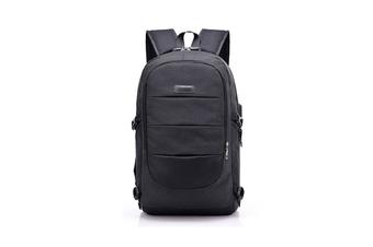 Unisex Shoulder Bag Simple USB Travel Large Capacity Computer Bag  BLACK