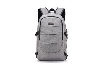 Unisex Shoulder Bag Simple USB Travel Large Capacity Computer Bag  GREY