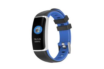 Smart Bluetooth Watch Moving Blood Pressure Heart Rate Waterproof Watch  BLACK BLUE