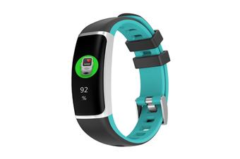 Smart Bluetooth Watch Moving Blood Pressure Heart Rate Waterproof Watch  BLACK CYAN