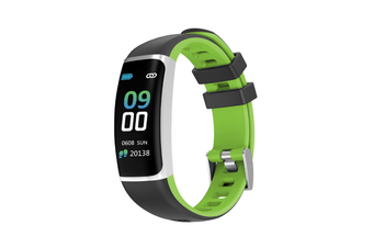 Smart Bluetooth Watch Moving Blood Pressure Heart Rate Waterproof Watch  BLACK GREEN