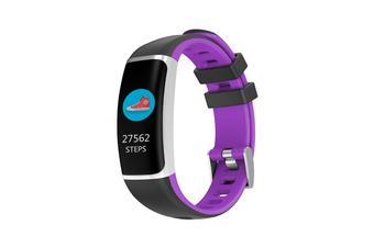 Smart Bluetooth Watch Moving Blood Pressure Heart Rate Waterproof Watch  BLACK PURPLE