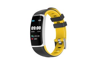 Smart Bluetooth Watch Moving Blood Pressure Heart Rate Waterproof Watch  BLACK YELLOW