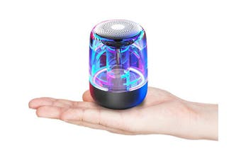 Bluetooth Portable Speaker, True Wireless Stereo Speakers, Support TWS Pairing,Microphone, LED Light Show, TF Card, Aux in -1 pack