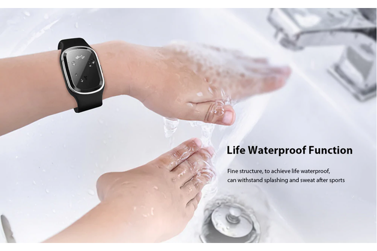 Mosquito Repelente Bracelete M1 Portátil Ultrassônico Mosquito Repelente Bracelete USB Rechargeable (Preto)