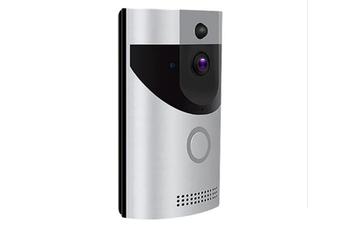 Smart Wireless WiFi Doorbell Video Intercom Doorbell Camera Visual Night Vision Alarm Mobile Phone Remote Control Home Silver