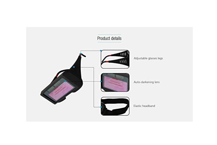 Anti-Ultraviolet Solar Powered Auto Darkening Welding Glasses Eye Protection Equipment