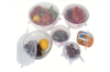6Pcs/ Set Universal SiliconeWrap Cover Lids Food Bowl Pot Stretch Kitchen Vacuum Seal Reusable Suction Sealer -YELLOW