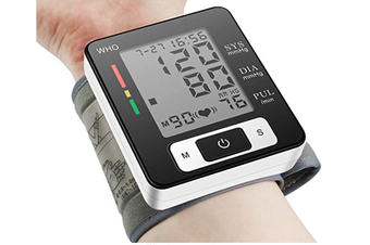 Blood Pressure Monitor, Portable Home Care Electronic Blood Pressure Watch with Wristband Automatic Wrist Electronic Blood Pressure Monitor