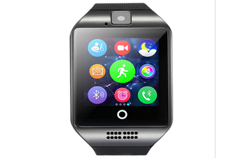 Smart Watch with Camera, Q18 Bluetooth Smartwatch with Sim Card Slot Fitness Activity Tracker Sport Watch for Android Smartphones-BLACK