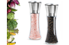 Premium Stainless Steel Salt and Pepper Mill with Adjustable Coarseness - Salt Grinder and Pepper Shaker Mill(Package: 2 X Grinder)