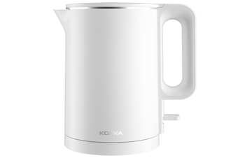 KEK-KD17 Water Kettle 1500W 1.7L Quick Boiling Stainless Steel ABS Electric Water Kettle-WHITE