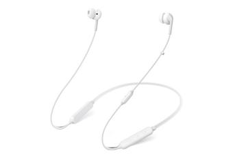 Bluetooth Headphones Wireless Sport Earphones Bluetooth 5.0, HiFi Bass Stereo Sweatproof Earbuds, CVC6.0 Mic Noise Cancelling Headset-WHITE