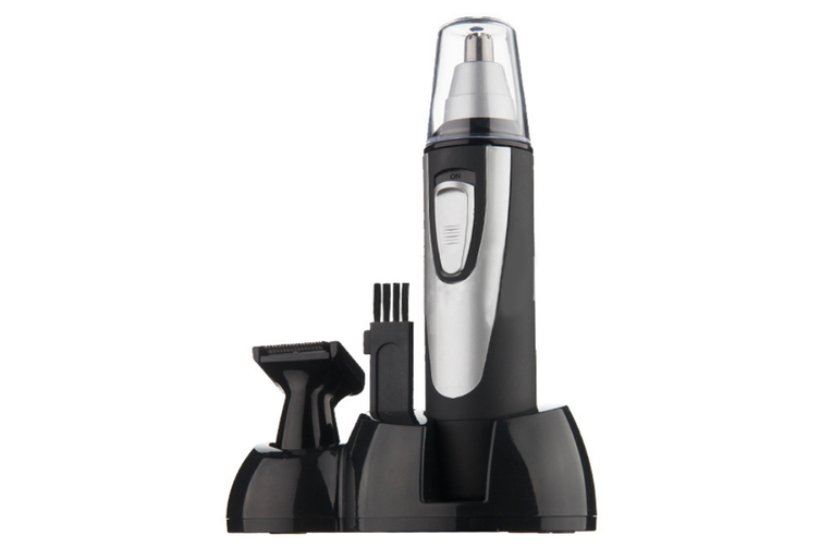 Professional Nose & Ear Hair Trimmer with LED Light,Water Resistant,Stainless Steel Blades,and Battery Power