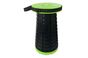 Portable Retractable Folding Stools Collapsable Telescoping Travel Seat Stool Outdoor Travel Camping Fishing Garden Folding Stools-FLUORESCENT GREEN