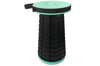 Portable Retractable Folding Stools Collapsable Telescoping Travel Seat Stool Outdoor Travel Camping Fishing Garden Folding Stools-LIGHT GREEN