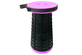 Portable Retractable Folding Stools Collapsable Telescoping Travel Seat Stool Outdoor Travel Camping Fishing Garden Folding Stools-PURPLE