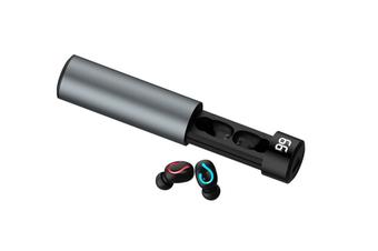 Q67 TWS Wireless Earbuds 3D Stereo Mini 5.0 Bluetooth Earphone with Dual Mic Sports Waterproof Earphones Auto Pairing Headset-GRAY