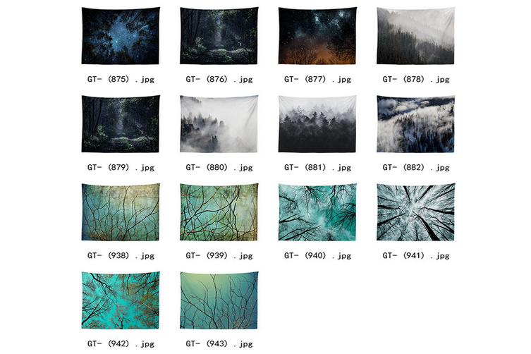 """Wall Hanging Decor Nature Art Polyester Fabric Tapestry, For Dorm Room, Bedroom,Living Room -51"""" x 60"""" (130cmx150cm)-882"""
