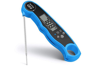 Instant Read Meat Thermometer - Best Waterproof Ultra Fast Thermometer with Backlight.Digital Food Thermometer for Kitchen, Outdoor Cooking, BBQ-BLUE
