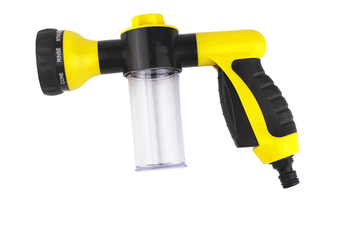 Car Hose Cleaner Foam Nozzle,Water Hose Nozzle,High Pressure Nozzles,8 Patterns Car Wash,Cleaner,Watering Lawn Pets-YELLOW