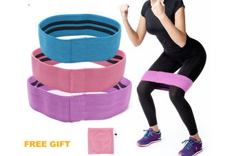 Resistance Booty Bands-Non Slip Fabric Three Different Resistances Hip Workout Bands for Women Booty Strength Training Set of 3 Wide Resistance Bands
