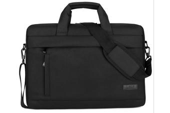 13.5 Inch Laptop Shoulder Bag for 13-inch MacBook Pro, MacBook Air, Surface Book, Surface Laptop, Multi-Functional Laptop Messenger Bag-Black