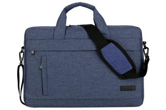 13.5 Inch Laptop Shoulder Bag for 13-inch MacBook Pro, MacBook Air, Surface Book, Surface Laptop, Multi-Functional Laptop Messenger Bag-Blue