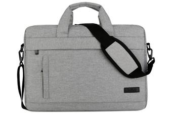 13.5 Inch Laptop Shoulder Bag for 13-inch MacBook Pro, MacBook Air, Surface Book, Surface Laptop, Multi-Functional Laptop Messenger Bag-Light Gary