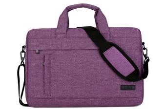 13.5 Inch Laptop Shoulder Bag for 13-inch MacBook Pro, MacBook Air, Surface Book, Surface Laptop, Multi-Functional Laptop Messenger Bag-Purple