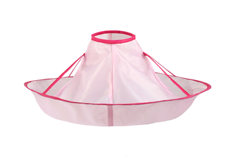 Hair Cutting Cloak Umbrella Cape Salon Waterproof Child Home Barber Hairdressing for Child Hairstylist Design Gown Barbers-PINK