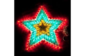 120 LED Multicolour Star Christmas Light RGY 51cm