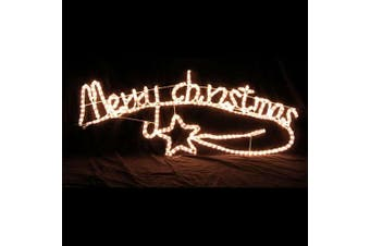 Animated Merry Christmas Motif Rope light w/ Controller
