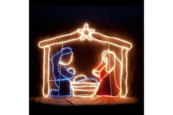 LED Nativity Scene Christmas Motif Rope Light Display