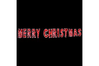 Merry Christmas Commercial LED Light and Garland Display