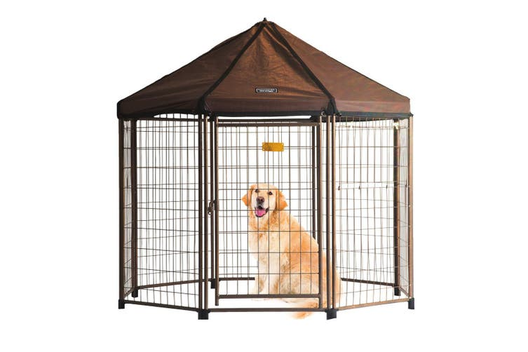 Octagonal Dog Pen with Cover 1.5x1.5x1.5m